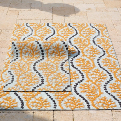 Polypropylene Hooked Outdoor Rug Grandin Road