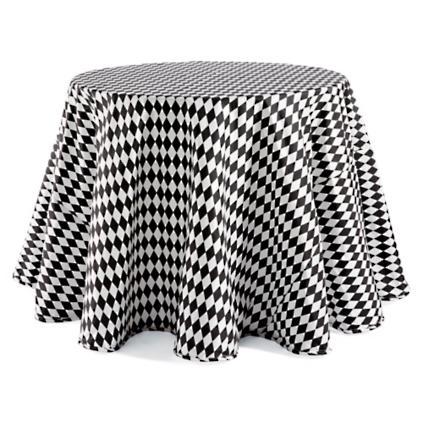 harlequin faux dupioni round tablecloth - Grandin Road Catalog
