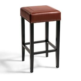 Callie Leather Bar Stool