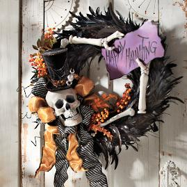 """Happy Hauntings"" Wreath 