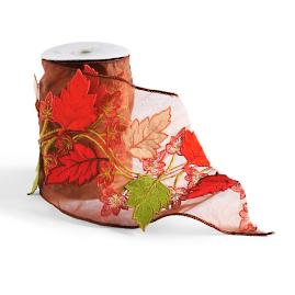 Harvest Leaves Ribbon by Katherine's Collection