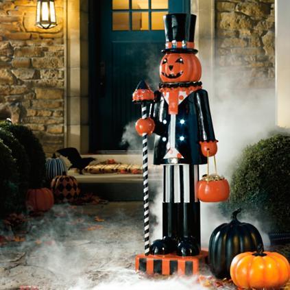 Pumpkin Man Figure Grandin Road