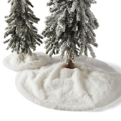 Faux Fur Tree Collar Grandin Road