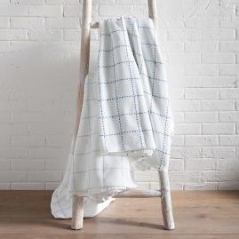 Stitched Plaid Blanket |