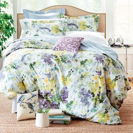 Watercolor Bloom Duvet and Shams