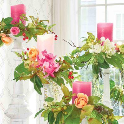 Set Of Five Chloe Candle Rings Grandin Road