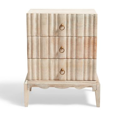 Madison White Distressed Chest