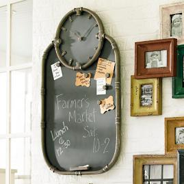 Riveter Clock and Chalkboard