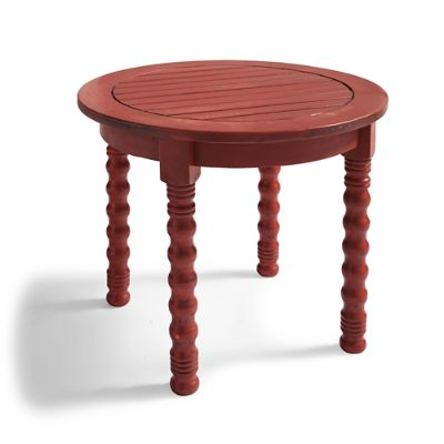 Meridian Side Table in Weathered Paprika
