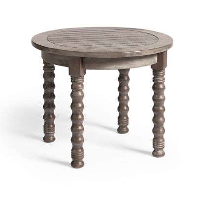Meridian Side Table in Weathered Grey