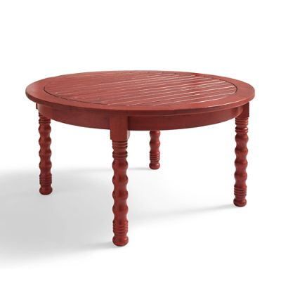 Meridian Round Coffee Table in Weathered Paprika
