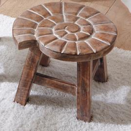 Shell Petite Wooden Footstool