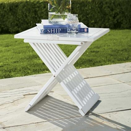 farrah outdoor folding table - Grandin Road Catalog