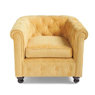 Harrison Chair in Butter Velvet
