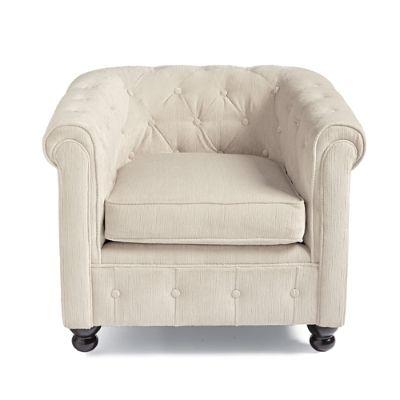 Harrison Chair in Ivory Velvet