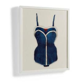 """Blue Dots"" Vintage Bathing Suit Wall Art"