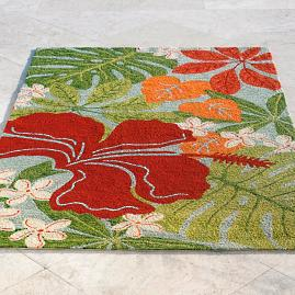 Hawaiian Leaf Outdoor Mat
