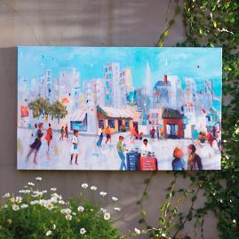 City Scene Outdoor Art