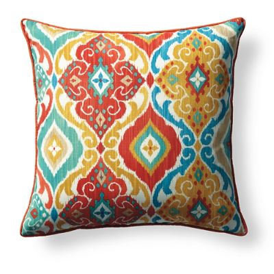 Colorful Medallion Outdoor Pillow