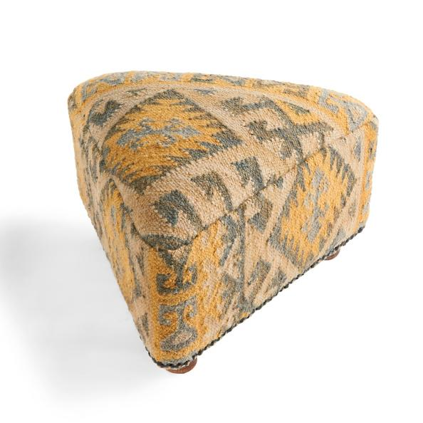 Alara Kilim Triangle Footstool - Grandin Road