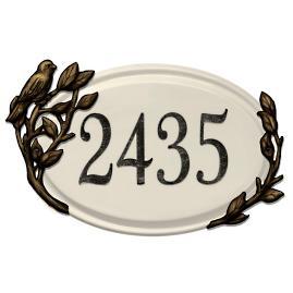 Ceramic Bird Address Plaque