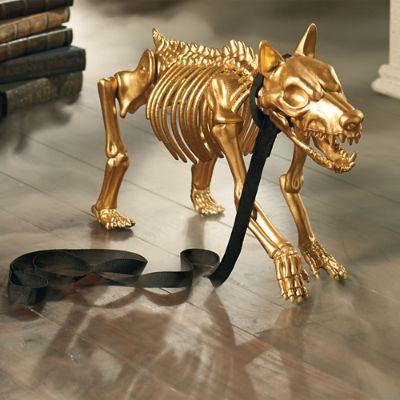 Gold Skeleton Dog Grandin Road