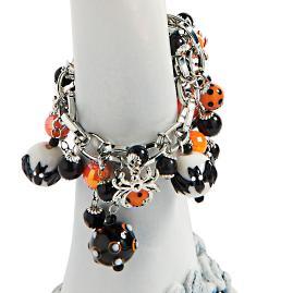 Halloween Spider Charm Bracelet