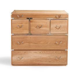 Linden Six Drawer Oak Chest