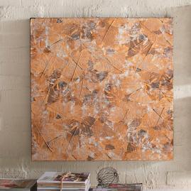 Metallic Falling Leaves Wall Art