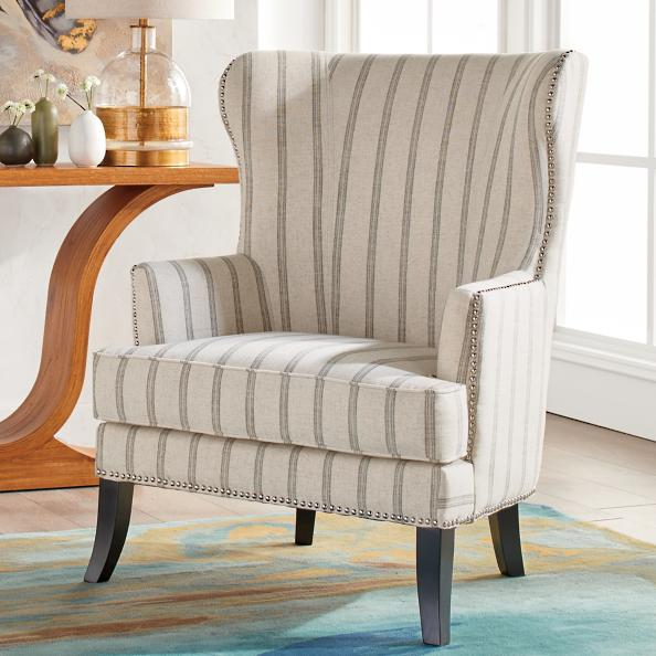 Jordan Fabric Wing Chair Grandin Road