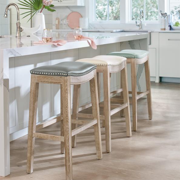 Oak Bar Stools ~ Jennifer oak bar stool grandin road