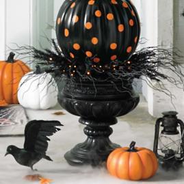 Prelit Spooky Urn Filler