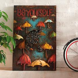 "Dimensional Metal ""Be Yourself"" Wall Art"