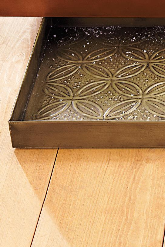 Embossed Metal Boot Tray Grandin Road