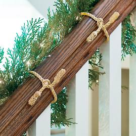 Decorative Garland Ties, Set of Six