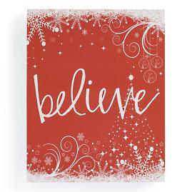 """Believe"" Christmas Canvas"