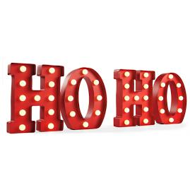 """HO HO"" Marquee Letters 