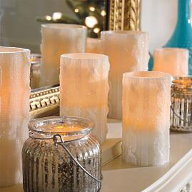 Cable Knit Battery Operated Candle