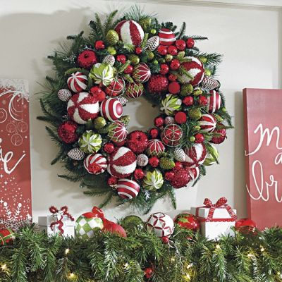 Deck The Halls Wreath Grandin Road