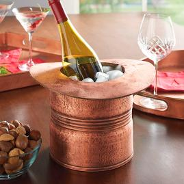 Copper Top Hat Wine Cooler