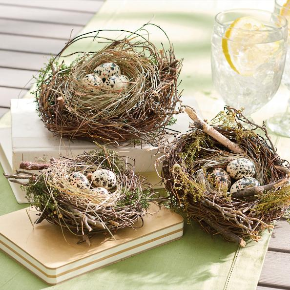 Http Www Ebay Com Itm Birds Nest With Eggs Set Of Three Graduated Sizes Easter Spring 142297887172
