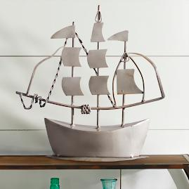 Metal Clipper Sailboat