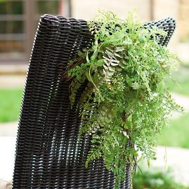 Garden Vine Chair Swags, Set of Four