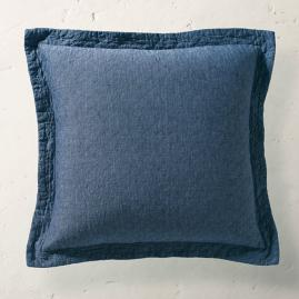 Linen Quilted Euro Pillow Sham
