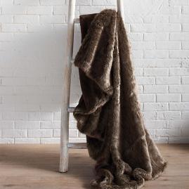 Bear Luxury Faux Fur Throw