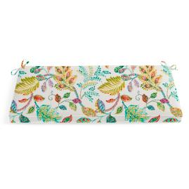 Double Piped Patterned Bench Cushion |