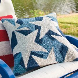 Blue Stars Throw Pillow
