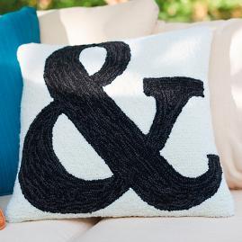 Ampersand Outdoor Pillow