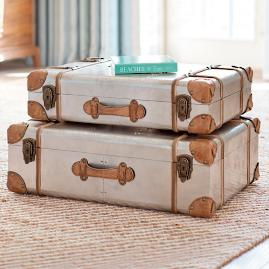 Riveted Suitcases, Set of Two