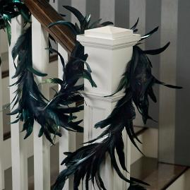 Black Feather Garland